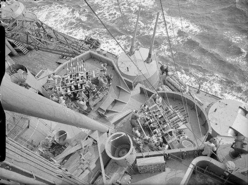 HMS_Prince_of_Wales_pom-poms_and_5.25_inch_guns_IWM_A_3904